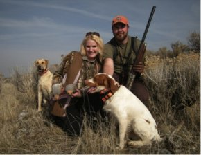 A family hunting trip for gray partridge.