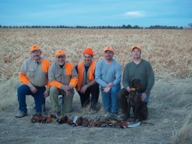 A group of happy pheasant hunters in eastern Colorado.