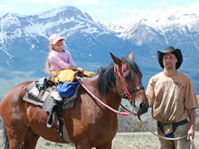 Enjoy beautiful scenery during a Montana riding vacation.