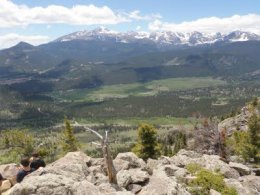 From the summit,  views of Moraine Park and Longs Peak are unobstructed and breathtaking.