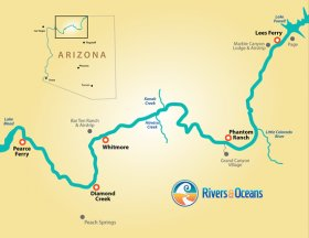 Grand Canyon River Rafting Map
