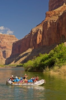 Rafting the Colorado River, Marble Canyon, Grand Canyon National Park Arizona