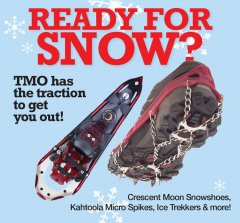 ready for snow Taos snowshoes