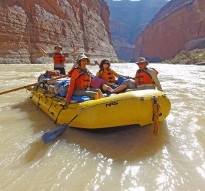 Canyon rafting