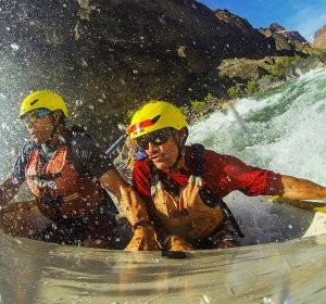 Rafting through the Grand Canyon