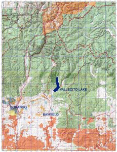 Topo Map of Vallecito Area