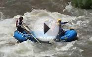 3 Rocks Arkansas River Colorado guide faceplant and swimmers