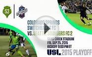 2015 USL Playoffs - Colorado Springs Switchbacks FC vs