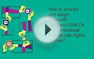 Activate and assign Dynamics CRM Online licenses