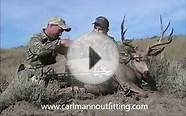 Bow archery hunting for mule deer in eastern Montana