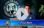 Colorado Division of Wildlife Online Application Tutorial