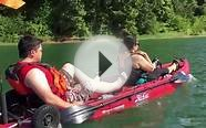 Hobie Outfitter tandem kayak speed run