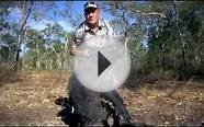 Wildlife Man Bow Hunting Boars